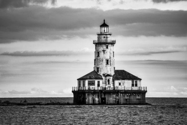 Black & White Lightouse by Stasa