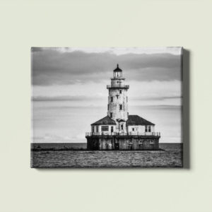 Black & White Lightouse canvas