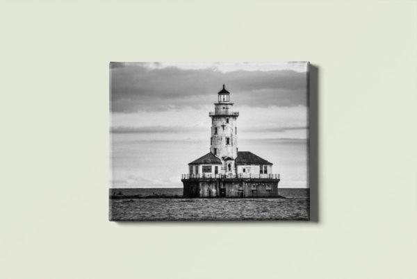Black & White Lightouse canvas