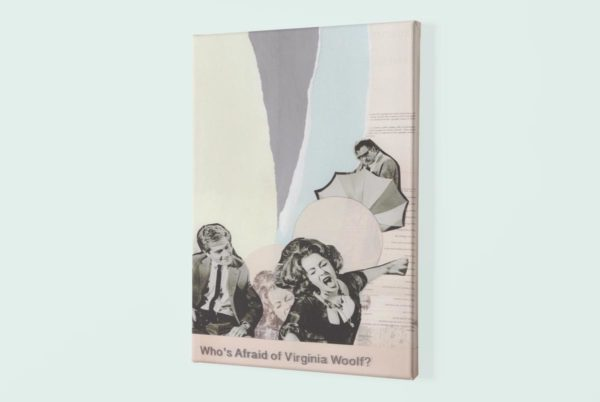 Virginia wolf canvas